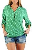 Produktbild von Malito Damen Bluse mit Punkten | Tunika ¾ Armen Blusenshirt