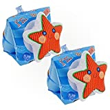 #4: Star Shape Swimwings, Inflatable Swimming Arm Band Floats for Pool Beach for Kids - 3 to 6 Years of Age - 9