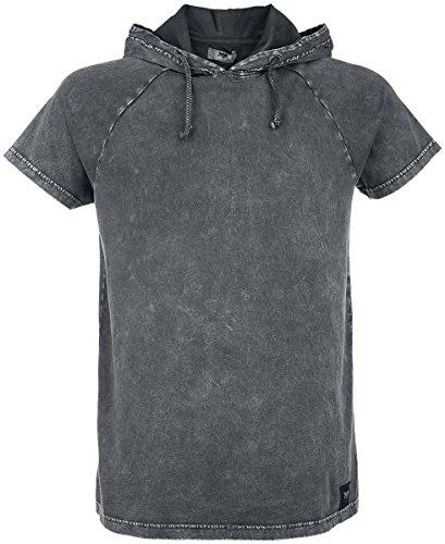 Black Premium by EMP Hooded Vintage Shirt T-Shirt grigio S