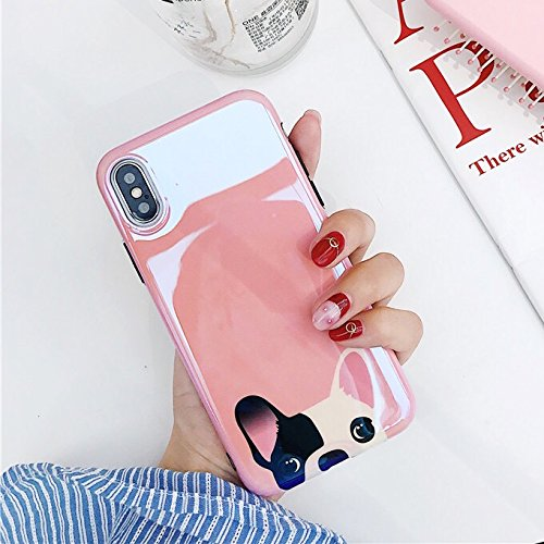 [caserbay] iPhone Fall Trendiger Aurora Farbverlauf Blau Leichte Glanzoptik Reflektierende Flexible TPU Soft Case, for iPhone X (5.8