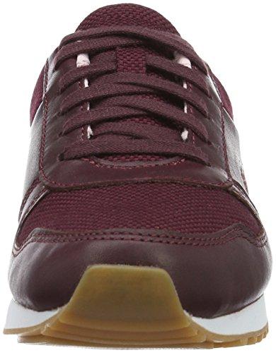 Lacoste Damen Trajet 416 1 C Sneaker rot (BURG/LT PNK)