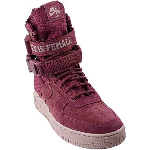 Nike W SF AF1 FIF Womens Fashion-Sneakers bstn_AJ1700-600_9.5 - Vintage Wine/Vintage Wine-Particle Rose - Womens Vintage Rose