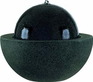 esteras 8512114057 brunnen f r den garten rund mit schale 57 cm fiberglas schwarz guapi. Black Bedroom Furniture Sets. Home Design Ideas
