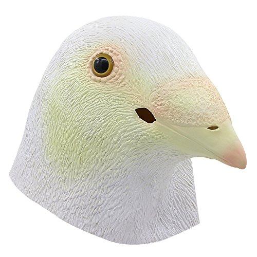 Taubenkopf Maske, Halloween Requisiten Freedom Symbol Vogel Maske, Cosplay Kostüme Dekoration Latex Nette Vogel Maske, Tierkopf Maske