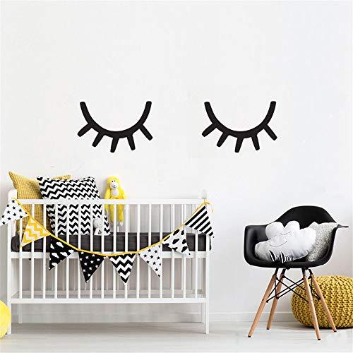 wandaufkleber schlafzimmer Große Größe Wimpern schläfrige Augen Wand Mädchen Schlafzimmer Kinderzimmer Home Decor