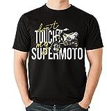 Siviwonder Unisex T-Shirt - HUSKY SUPERMOTO SM - dont touch my - Motorrad Fun schwarz M