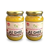 OG Let's be Natural Hand Churned A2 certified Grass Fed Desi Ghee, 2 x 500 ml