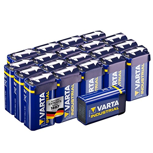 Varta Industrial Batterie 9V Block Alkaline Batterien 6LR61 - 20er pack, Made in Germany