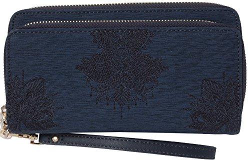 Desigual Geldbörse Mone Two Levels Soft Mendhi Blau 17WAYPFA-5117 Damen Geldbeutel Geldtasche Börse Portemonnaies