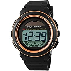 Men Solar Digital Sports Waterproof Military Watch Fashion