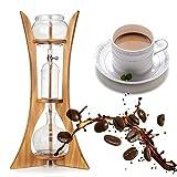 Luckybaby 600ML Cold Drip Ice Siphon Kaffeemaschine Glas Dutch Brewing Machine mit Filterpapier Home Kitchen Kaffee Werkzeug Holzrahmen