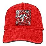 Men Women Camp Hair Henna Tattoo Pattern Cotton Denim Baseball Hat Adjustable Street Rapper Hat