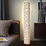 &Stehleuchte Stehleuchte Star Hollow Gravur LED Stehleuchte PVC Holz-Kunststoff Board Material Fußschalter Beleuchtung für Schlafzimmer, Wohnzimmer &Beleuchtung (stil : B)