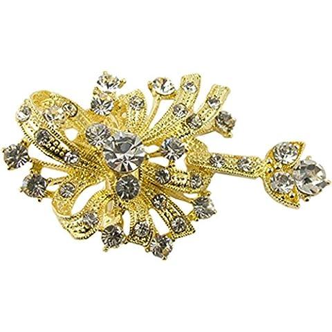 Bufanda hiyab broche de diamante de oro