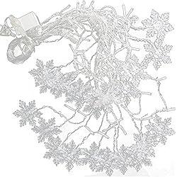 BEETEST Cortina de luces LED 3,5 m 96 llevó fantástico copo de nieve pared de la ventana de la lámpara de la luz de la cortina Iluminación decoración para Navidad fiesta de boda de Halloween casa dormitorio jardín
