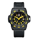 Luminox new NavySEAL carbon compound 3500 series Watch with carbon compound Case Black|Yellow Dial and PU Black Strap XS.3505