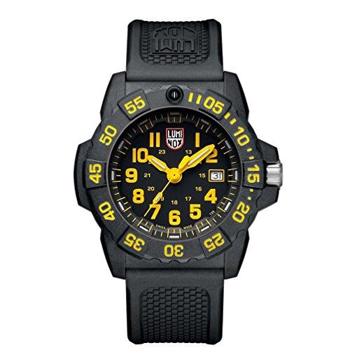 Luminox Herren Datum klassisch Quarz Uhr mit PU Armband XS.3505