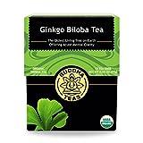 Organic Gingko Biloba té–Kosher, teína, sin OGM–18bleach-free bolsitas de té