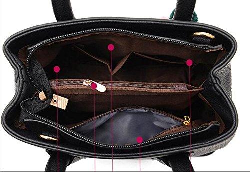 Dame Fashion Damen Tasche Handtasche Messenger Bag Umhängetasche Temperament Korean Version Casual A