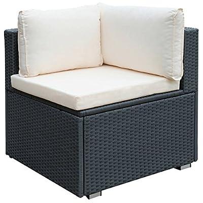 Miadomodo - Bequemes Sofa aus Polyrattan mit Kissen - Farbe wählbar von Miadomodo - Gartenmöbel von Du und Dein Garten