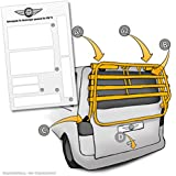 Barniz protector de pantalla para portabicicletas trasero, VW T5(Modelos 2003–2015)–Etiqueta, transparentes protectoras (7piezas) para bicicleta Portabicicletas Trasero y portabicicletas