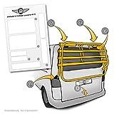 Lackschutzpads passend für original Fahrradträger vom Herstelller (VW T5 Multivan, Caravelle etc.) - selbstklebende, transparente Lackschutzfolie / Schutzpads (7teilig) für Fahrradheckträger und Heckklappenträger
