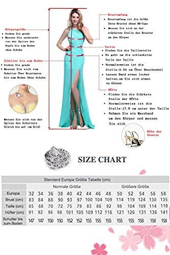 Milano Bride Elegant V-Ausschnitt Spitze Chiffon Hochzeitskleider Brautkleider Brautmode Damen Festkleider Rueckenfrei Weiß