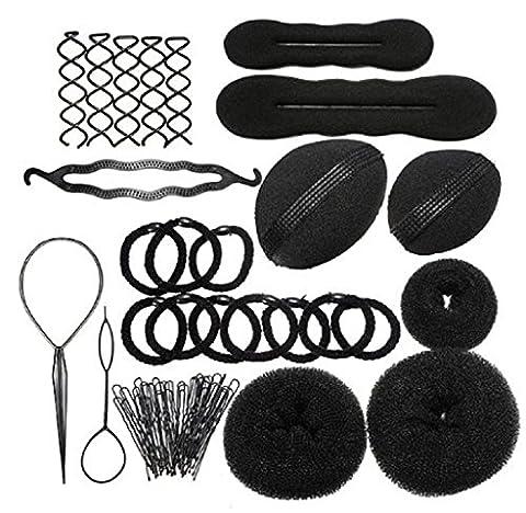 Covermason Nouvel entraînement de coiffure serrage élastique attaché cheveux tissage