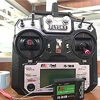 Navigatee RC Sender - FS-TM10 2.4G 10 CH Fernbedienung Multi Wings Sender mit Empfänger für Hubschrauber Fixed Wing Glider