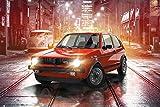 Poster Volkswagen - Golf GTI (91,5cm x 61cm) + un poster surprise en cadeau!
