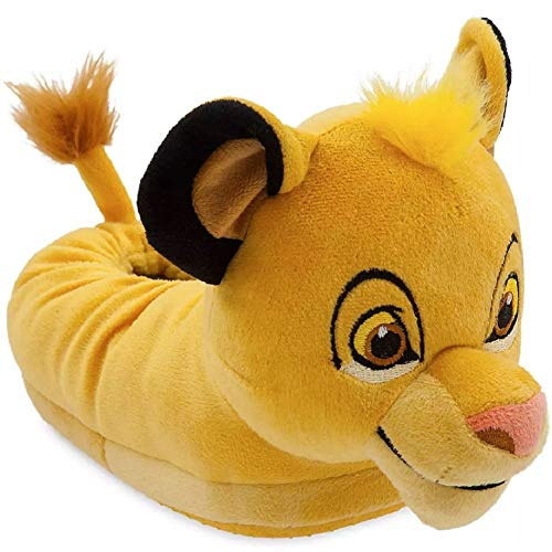 KKC Boys Lion Slipper Plush Comfy Warm Licensed House Slip On