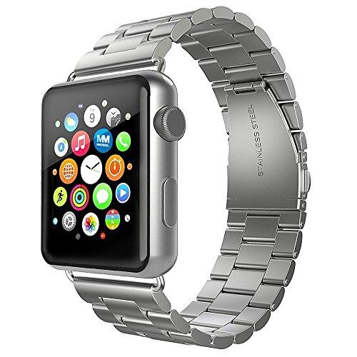 MMOBIEL Uhrenarmband (38 mm) Gliederarmband aus Edelstahl Ersatz kompatibel mit Apple Watch alle Serien (Silber) -