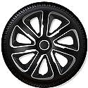 """4 Radkappen Radzierblenden Livorno Carbon Silver & Black - 4-er Set (16"""" Zoll)"""