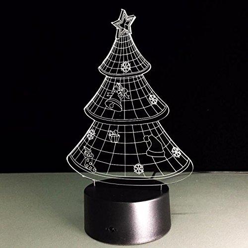 3d illusion lampe fußball schädel bösen kürbis weihnachtsbaum nachtlicht 7 farbwechsel tisch schreibtischlampe smart touch button usb led illusion licht halloween innendekorationen beste geschenk -