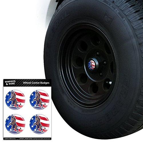 Angry Demokratischen Esel Politik Amerika Flagge Tire Rad Center Gap resin-topped Abzeichen Aufkleber–6,6cm (6.6cm) Durchmesser (Clinton-falle)