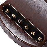 ammoon Portable Poche Acoustique Guitare Pratique Outil Gadget Chord Formateur 6 Cordes 4 Frette Modèle Rosewood Fretboard Bois Grain pour Apprenant Débutant