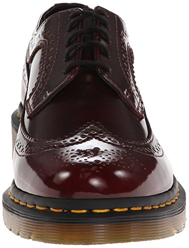 Dr. Martens 3989 Cambridge Rub Off CHERRY Damen Brogue Schnürhalbschuhe Rot (Cherry)