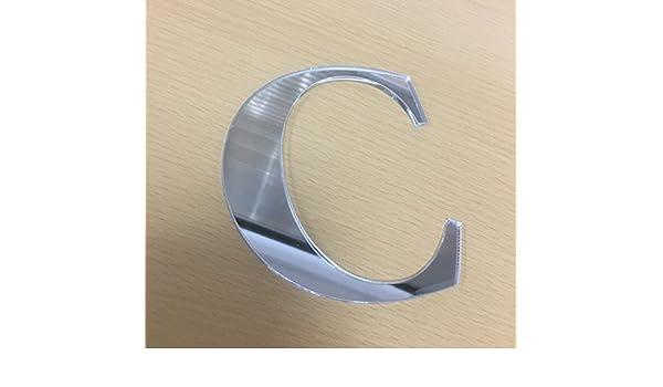Altezza cm.10 spessore mm.3 Lettera adesiva R in specchio acrilico plexiglass