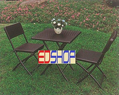 Set Tavolo Sedie Giardino Plastica.Set Giardino Tavolo Pieghevole Set Tavolo 2 Sedie Pieghevole