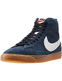 NIKE WMNS Blazer Mid Suede Vintage Schuhe Damen Echtleder-Sneaker Mid Top  Grau 518171 017 ebb398e72a