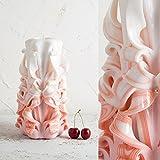 Einheit geformte Kerze für Hochzeit Handgemachtes Schnitzen - EveCandles