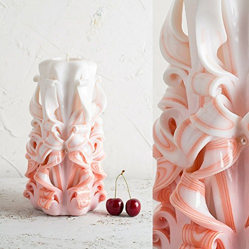 Kerze Duftenden Duft-Öl (Einheit geformte Kerze für Hochzeit Handgemachtes Schnitzen - EveCandles)