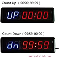 """Godrelish Crossfit fitness Interval Timer Stopwatch Wall Clock IR Remote Control(14""""x4""""x1.5"""")"""