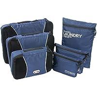 NEXTOUR 6pc Set imballaggio organizzatori–3Cubi di Imballaggio e digitale Accessori Pouch Toiletry Bag Borsa per valigia da viaggio Nuova versione