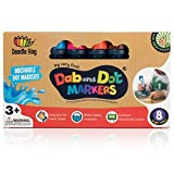#10: WASHABLE | Dab and Dot Markers | 8 Colors Pack Set | Includes 200+ Fun Downloadable Coloring Sheets | Fun Art Supplies for kids and preschoolers| Preschool Arts and Craft