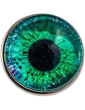 Morella Unisex Click-Button Druckknopf Auge grün