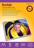 Kodak Supplies 185Z000460 Premium photo paper A4 20 Sheets