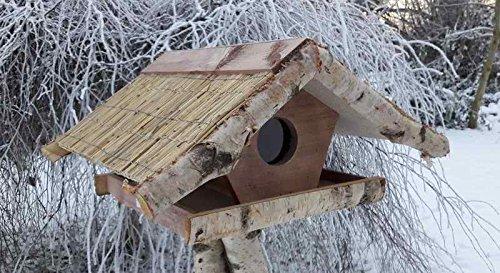 """Vogelfutterhaus mit Reetdach, """"Silo - Haus"""""""