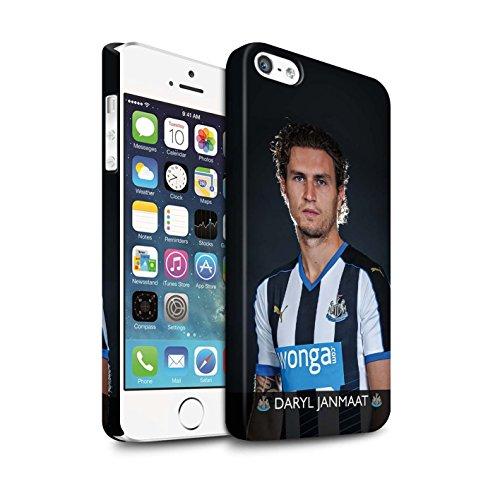 Officiel Newcastle United FC Coque / Clipser Matte Etui pour Apple iPhone SE / Pack 25pcs Design / NUFC Joueur Football 15/16 Collection Janmaat