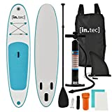 [in.tec]® Stand Up Paddle Board 305x71x10cm Surfboard SUP Paddelboard Wellenreiter aufblasbar türkis
